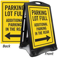 Parking Full Additional Parking Sidewalk Sign