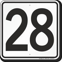 Parking Lot Number 28 Sign