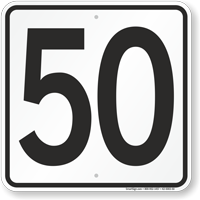 Parking Lot Number 50 Sign