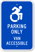 Parking Only Van Accessible Modified Accessible Sign