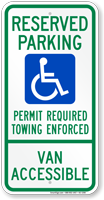 Arkansas Reserved ADA Parking, Van Accessible Sign