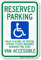 Hawaii Reserved ADA Parking, Licence Required Sign