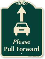 Pull Forward Signature Sign, Ahead Arrow