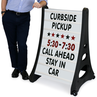Quick-Load A-Frame Changeable Letter Curbside Sign