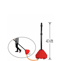 Danger Red Portable Sign Holder with 48in. Pole