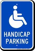 Reserved Handicap Parking Sign