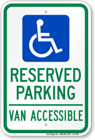 Texas Reserved Parking, Van Accessible Sign