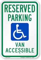 Reserved Parking Van Accessible Sign (with Graphic)