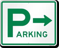Directional Parking Sign (arrow)