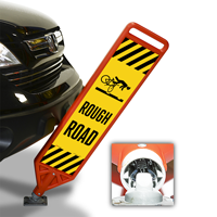 Rough Road With Symbol FlexPost Paddle Sign Kit
