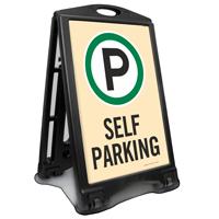 Self Parking Portable Sidewalk Sign