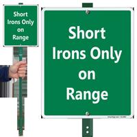 Short Irons Only On Range Lawnboss Sign Kit