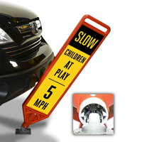 Slow Children At Play 5 MPH FlexPost Paddle Sign Kit