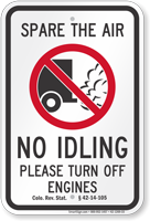 State Idle Sign for California