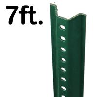 Standard U-Channel Sign Post - 7' tall