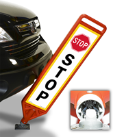 Stop With Symbol FlexPost Paddle Sign Kit