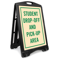Student Drop-Off And Pick-Up Area Sidewalk Sign Kit