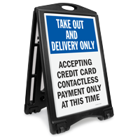 Take Out Delivery No Cash BigBoss Sidewalk Sign Kit