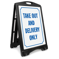 Take Out Delivery No Cash Sidewalk Sign Kit