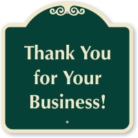 Thank You For Your Business Signature Sign