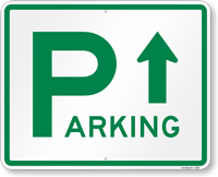Directional Parking Sign (arrow up or down)