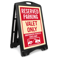 Valet Only Reserved Parking Sidewalk Sign Kit