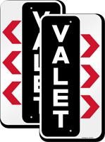 Valet Parking Right Arrow Sign