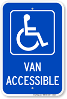 Van Accessible Handicapped Sign