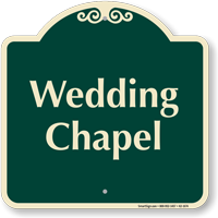 Wedding Chapel Signature Sign