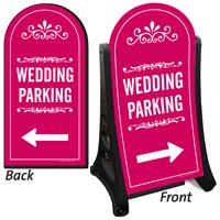 Wedding Parking Directional Dome-Shaped Sidewalk Sign