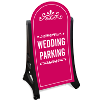 Wedding Parking Dome-Shaped Sidewalk Sign