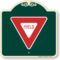 Yield Symbol Signature Sign