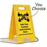 Add Your Custom Social Distancing Instructions FloorBoss Sign