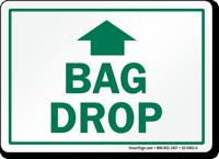 Bag Drop Up Arrow Golf Recreation Sign