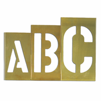 Brass Oversized Gothic Style Stencils Letter, 33 Piece