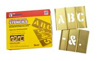 Brass Single Stencil Letter Set, 33 Piece