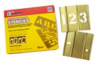 Brass Single Stencil Number Set, 15 Piece