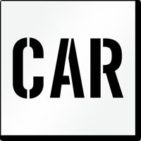 Car Parking Lot Stencil