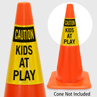 Caution Kids At Play Cone Collar