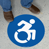 Updated Accessible Circular Floor Symbol Sign