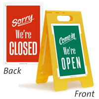Come In We Are Open Sorry We Are Closed Floor Sign