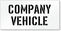 Company Vehicle Parking Lot Stencil