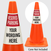 Custom Reserved Parking Cone Collar