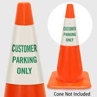 Customer Parking Only Cone Collar