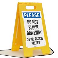 Do Not Block Driveway FloorBoss Sign