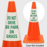 Do Not Drive Or Park On Grass Cone Collar