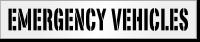 Emergency Vehicles Parking Lot Stencil