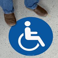 Handicap Symbol SlipSafe™ Floor Sign