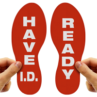 Have ID Ready Footprints Floor Marker