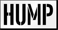 Hump Pavement Stencil